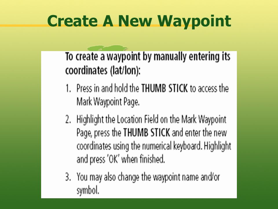 Create A New Waypoint