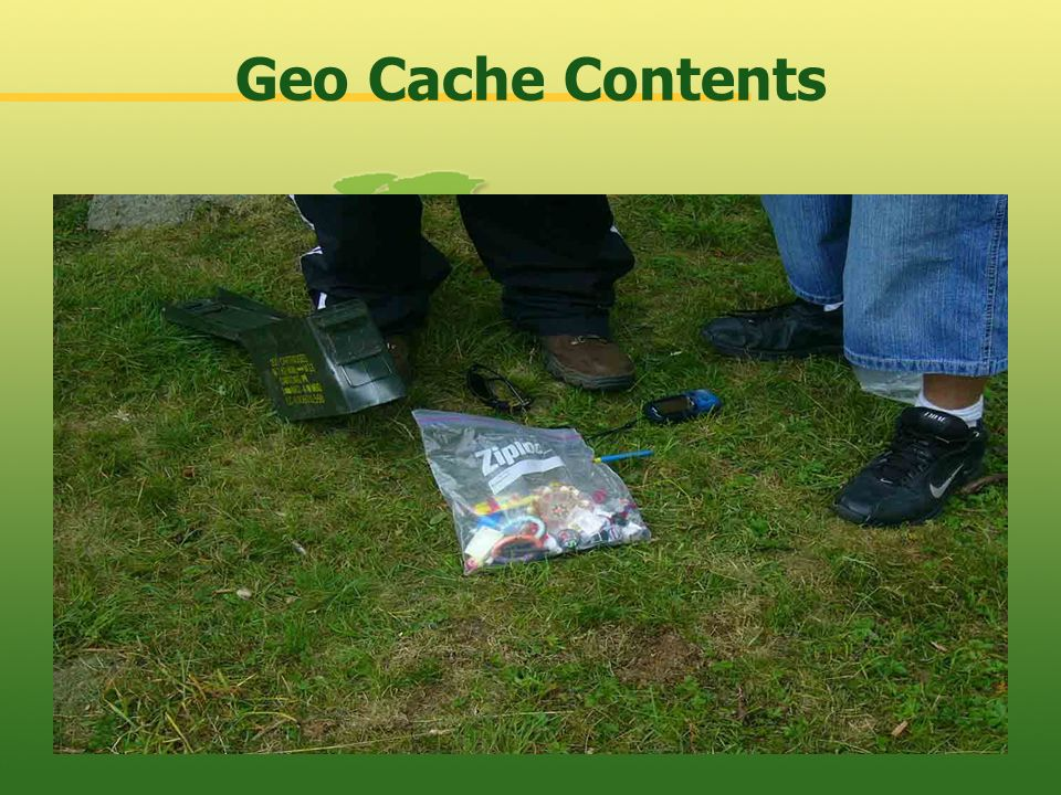 Geo Cache Contents
