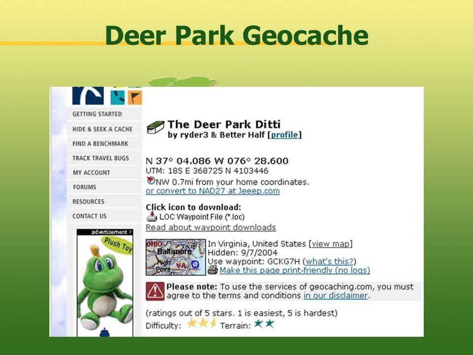 Deer Park Geocache