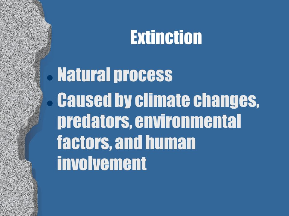 Extinction Natural process.