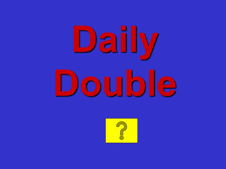 Daily Double