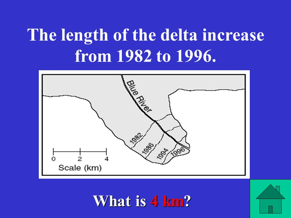 The length of the delta increase from 1982 to 1996.