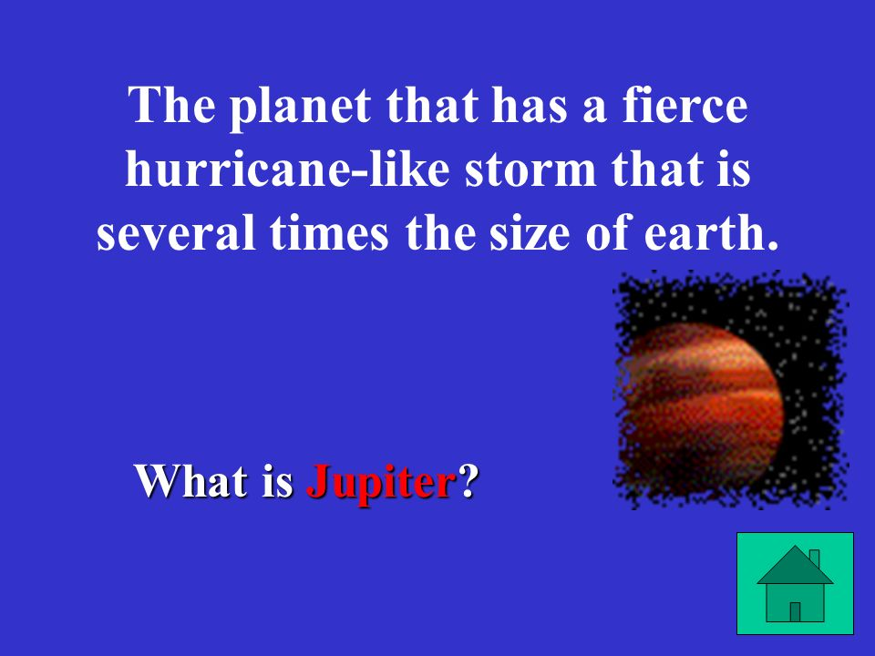 The planet that has a fierce hurricane-like storm that is several times the size of earth.