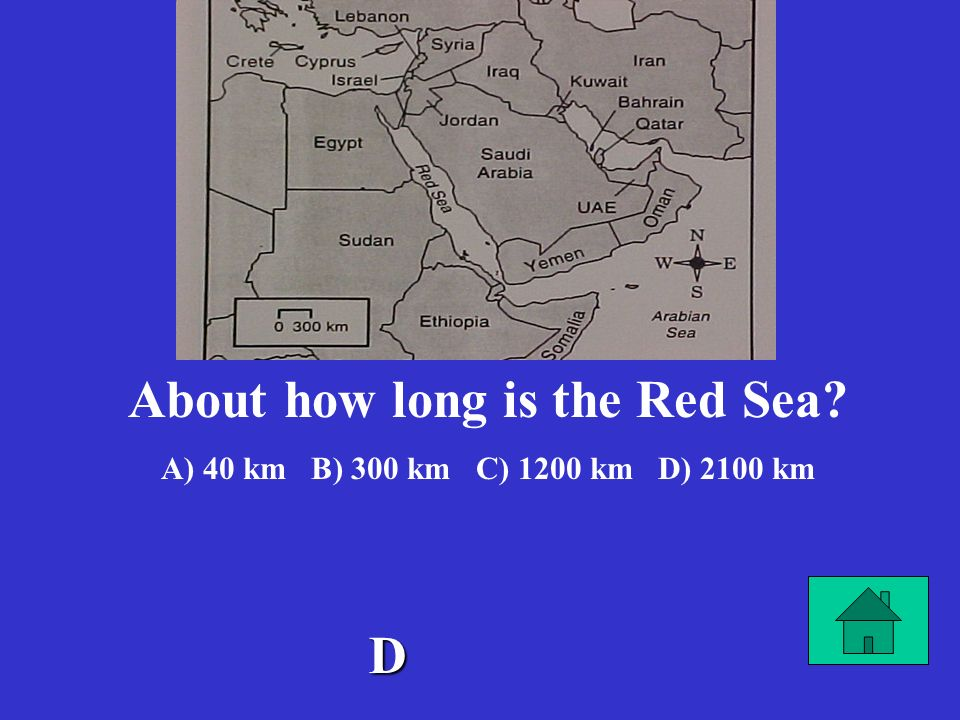About how long is the Red Sea