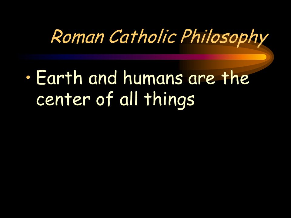 Roman Catholic Philosophy