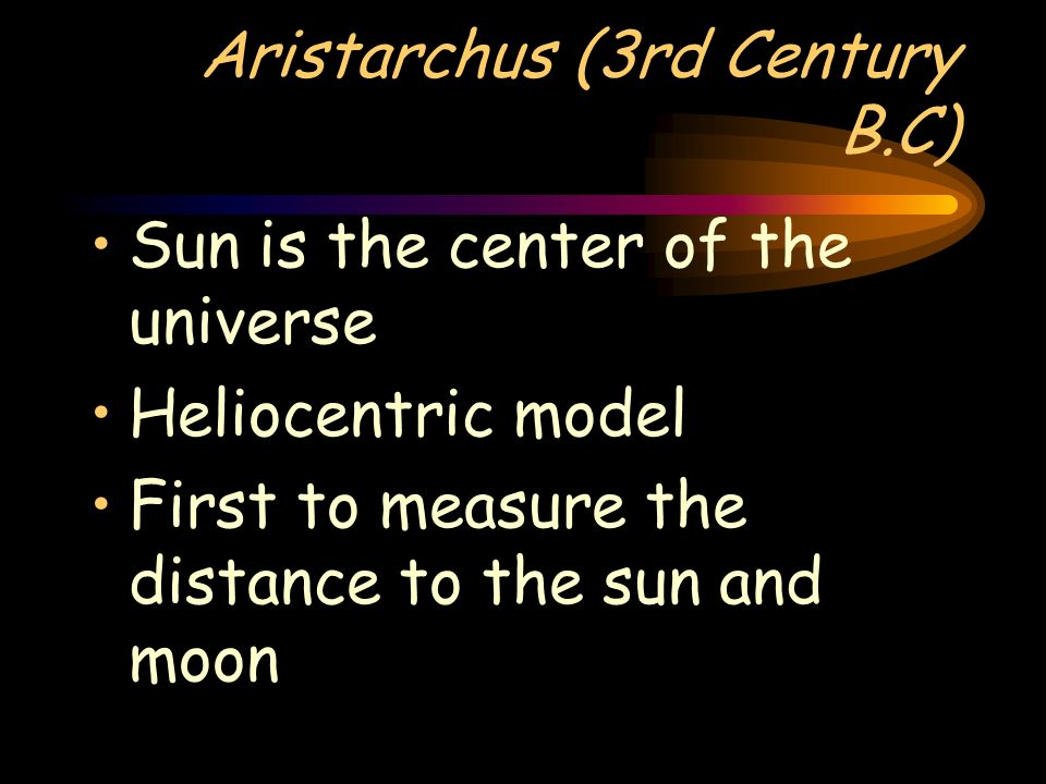 Aristarchus (3rd Century B.C)