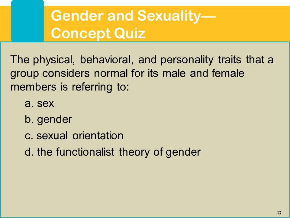 33 Gender ...