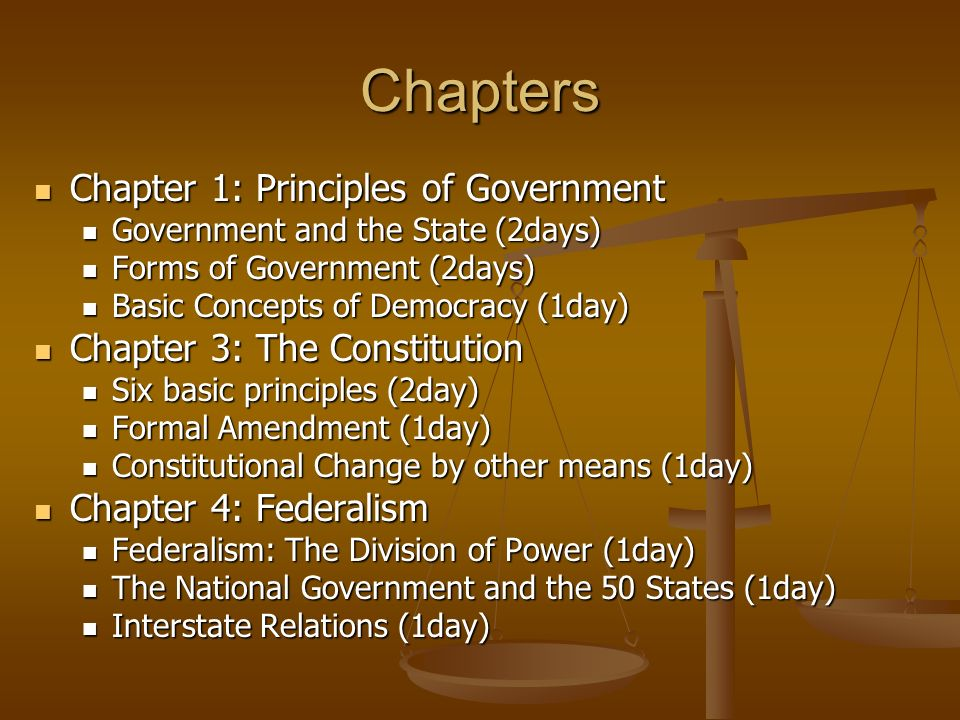 American government chapter 1 summary principles of government
