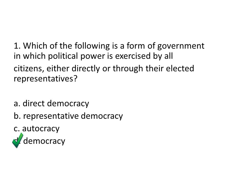 Comparing different forms of government - ppt video online download