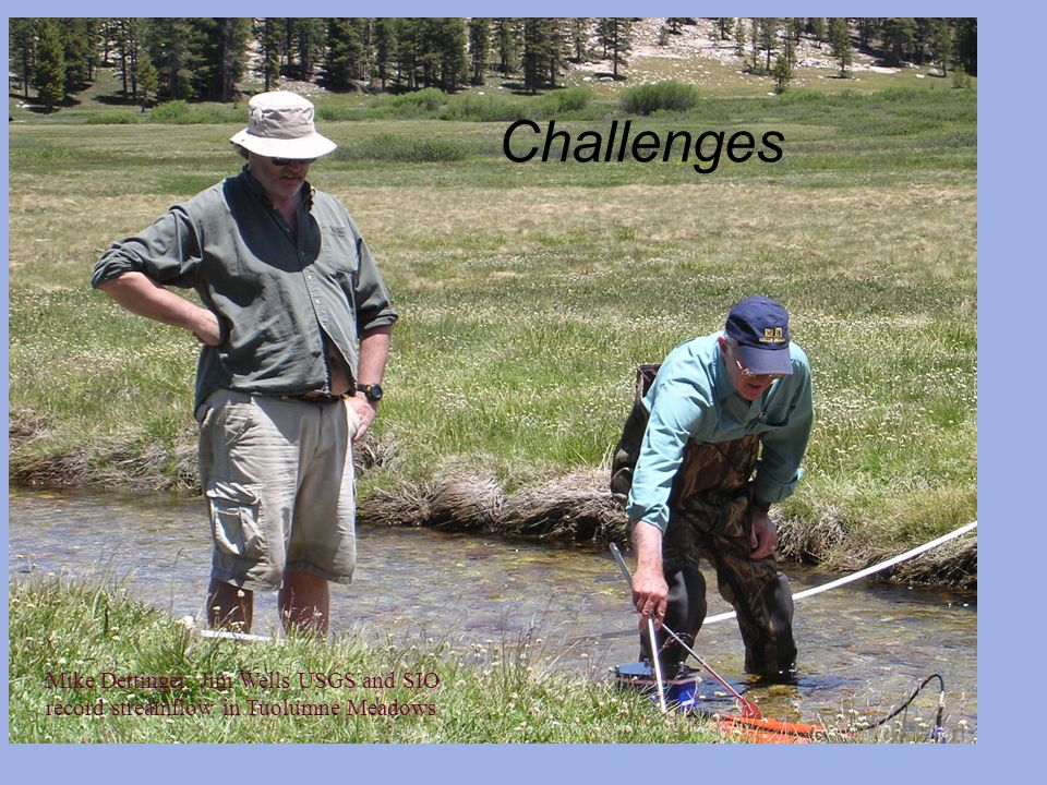 Challenges Mike Dettinger, Jim Wells USGS and SIO