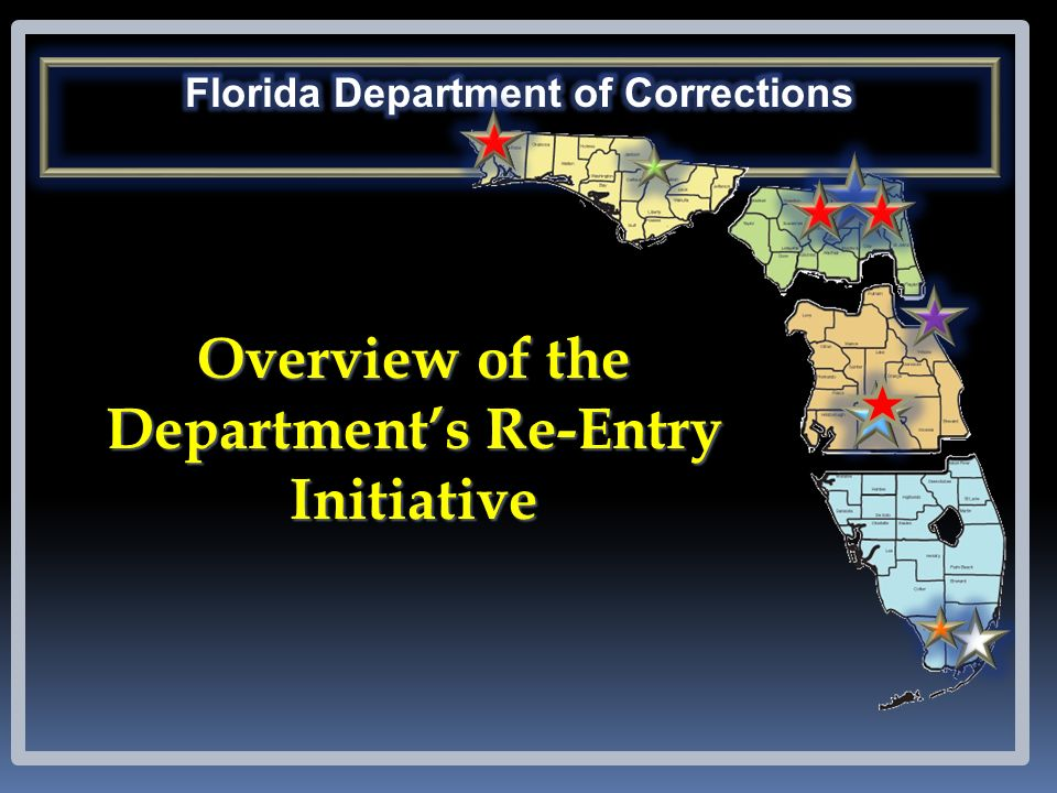 Overview of the Department's Re-Entry Initiative