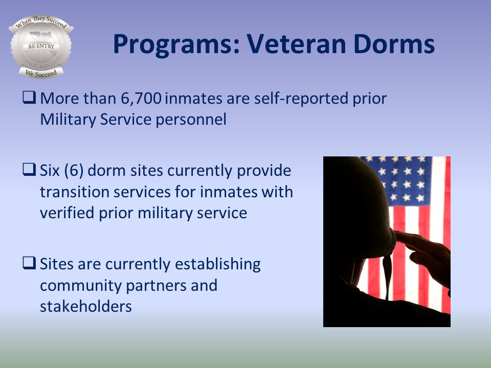 Programs: Veteran Dorms
