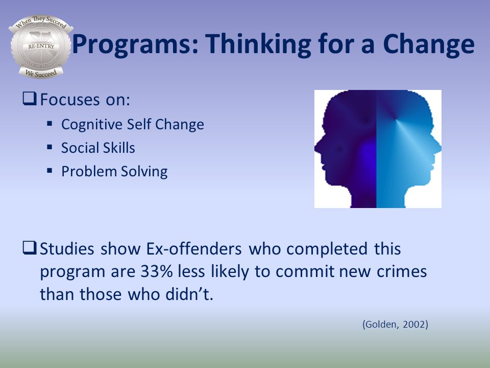 Programs: Thinking for a Change