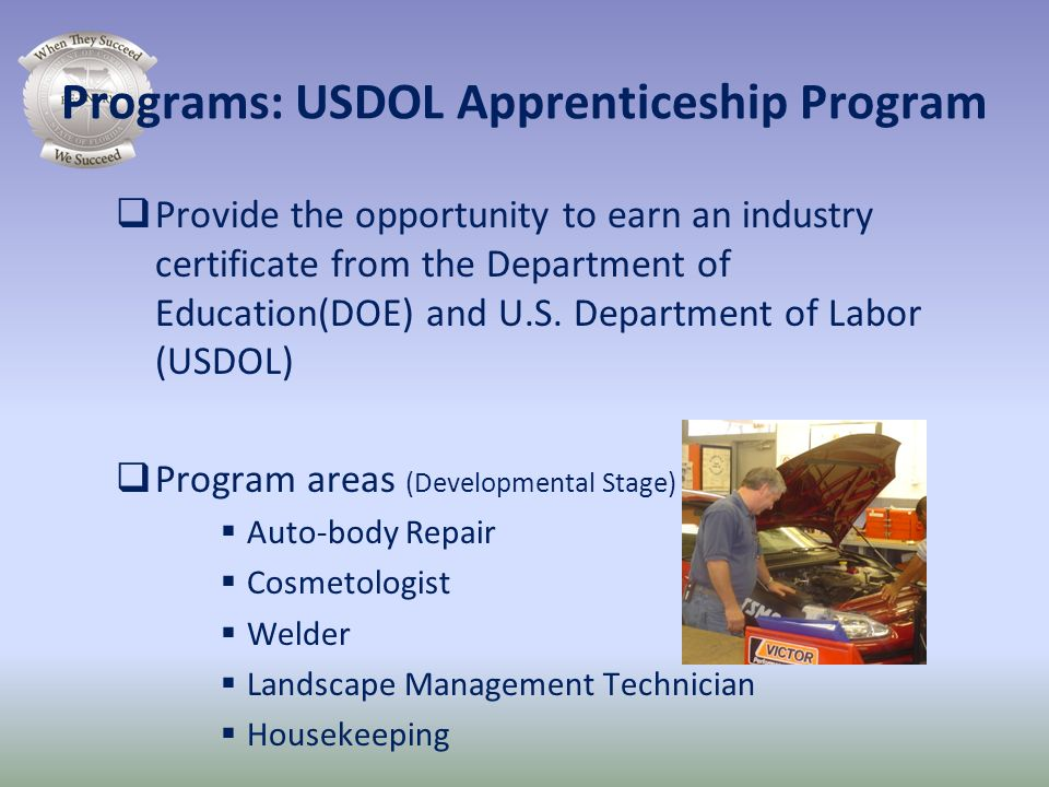 Programs: USDOL Apprenticeship Program
