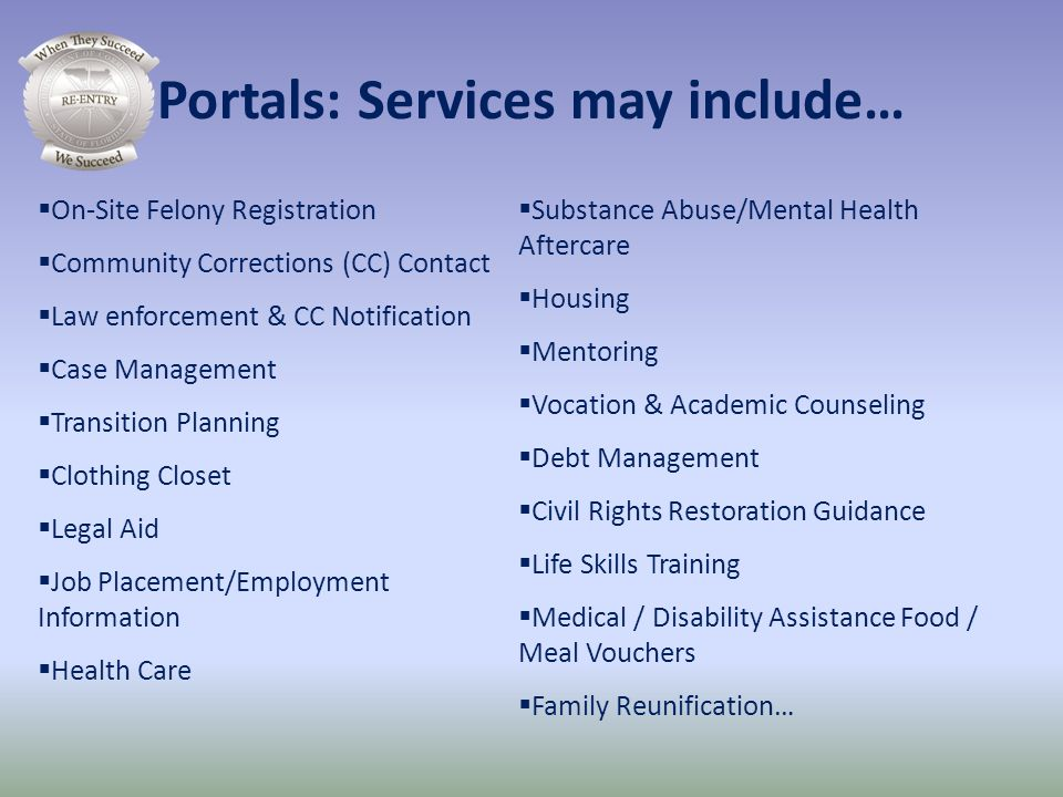 Portals: Services may include…