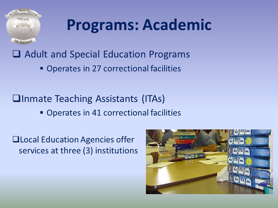 Programs: Academic Adult and Special Education Programs