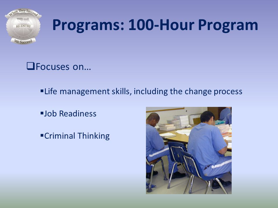 Programs: 100-Hour Program