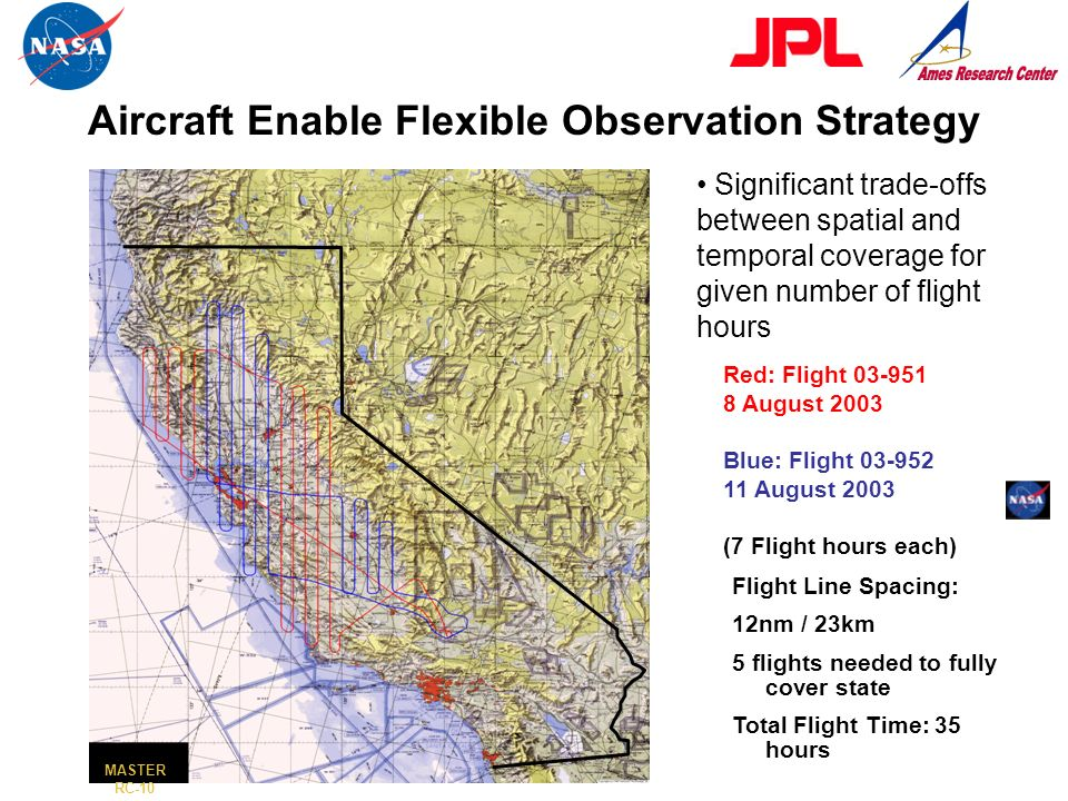 California: ER-2 Coverage from Two Missions