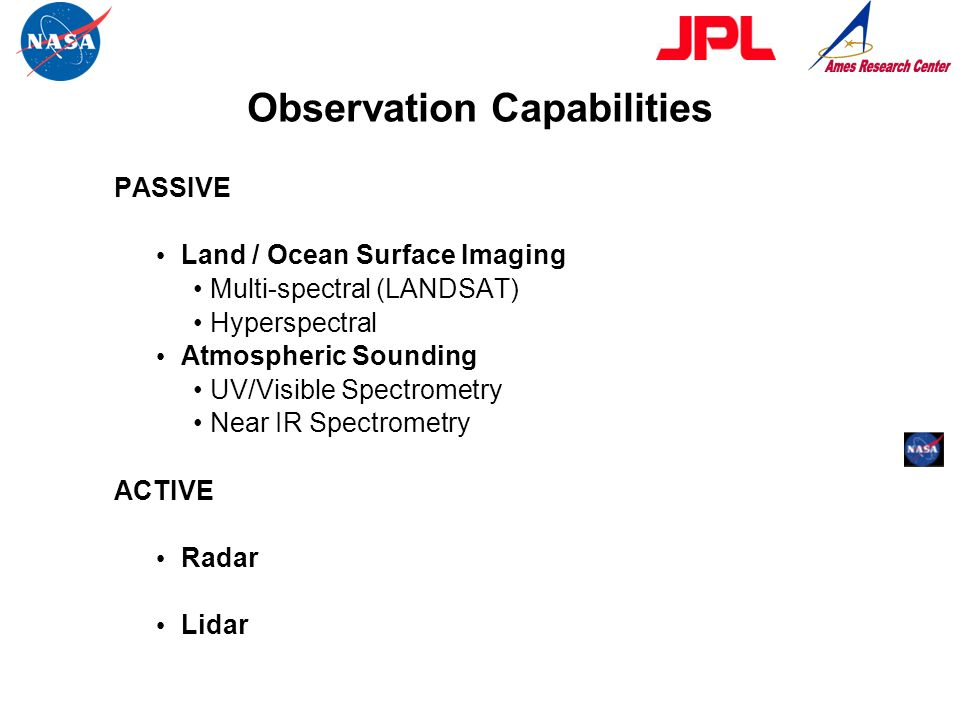 Observation Capabilities