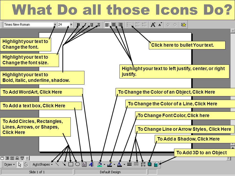 What Do all those Icons Do