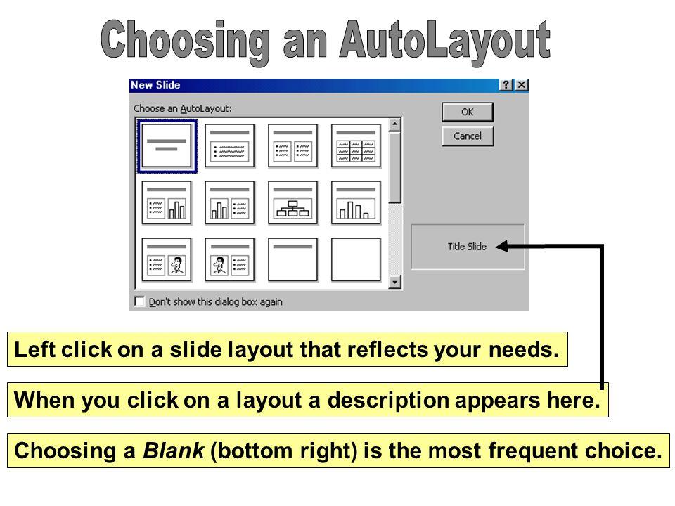 Choosing an AutoLayout