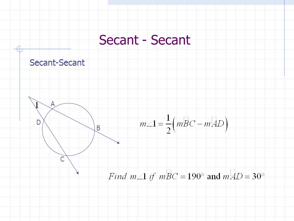 Secant - Secant Secant-Secant A D B C