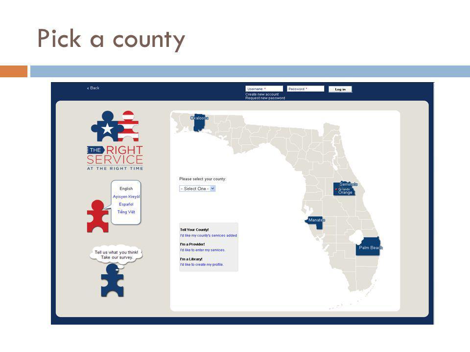 Pick a county