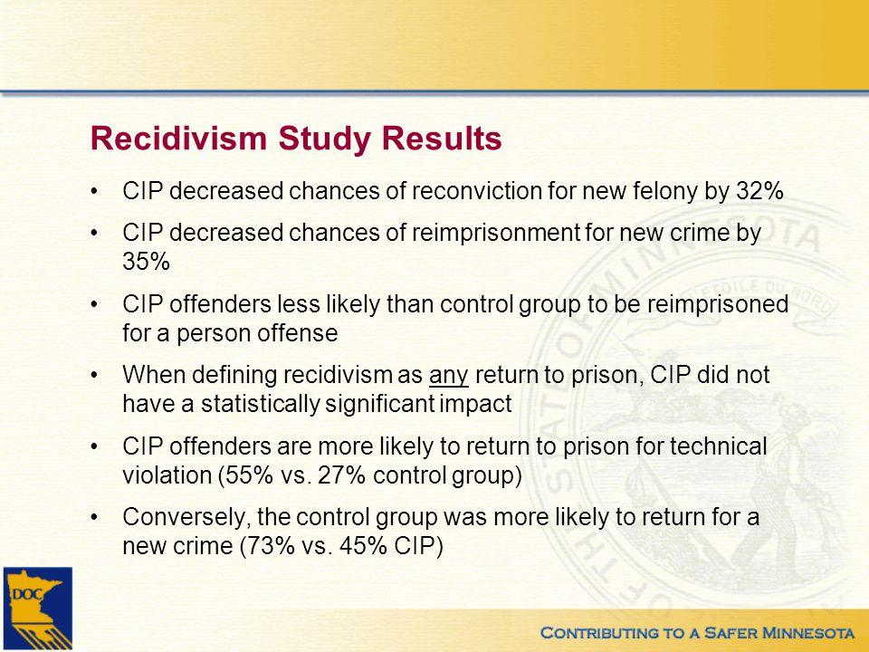 Recidivism Study Results