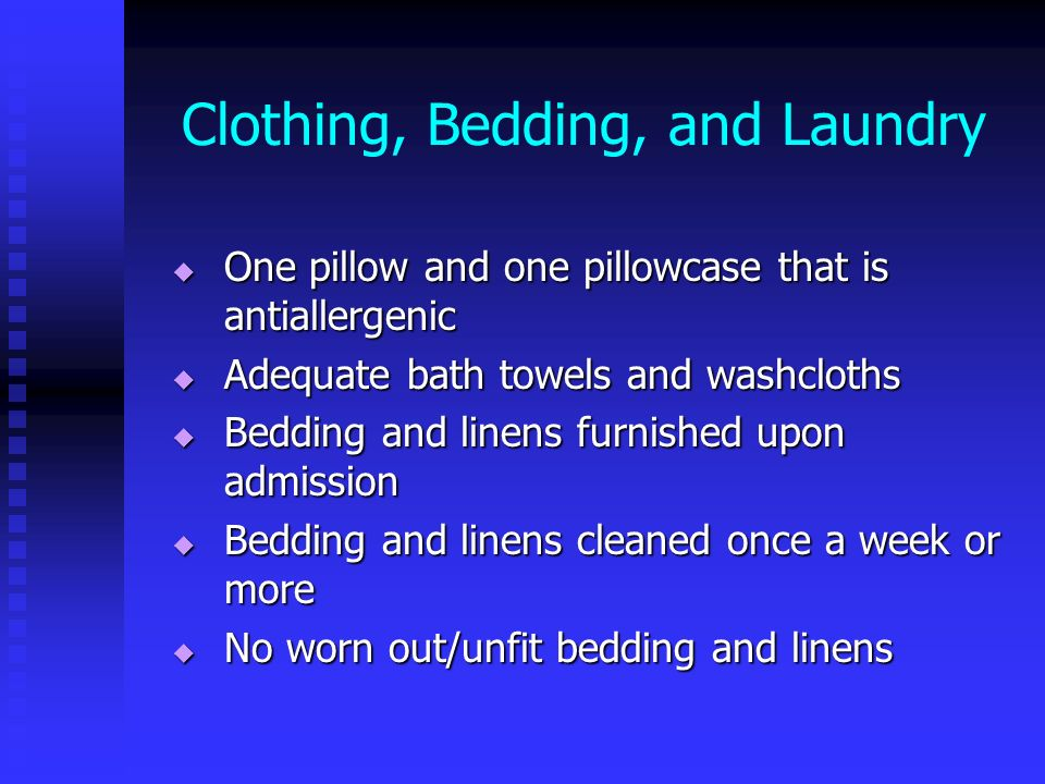 Clothing, Bedding, and Laundry