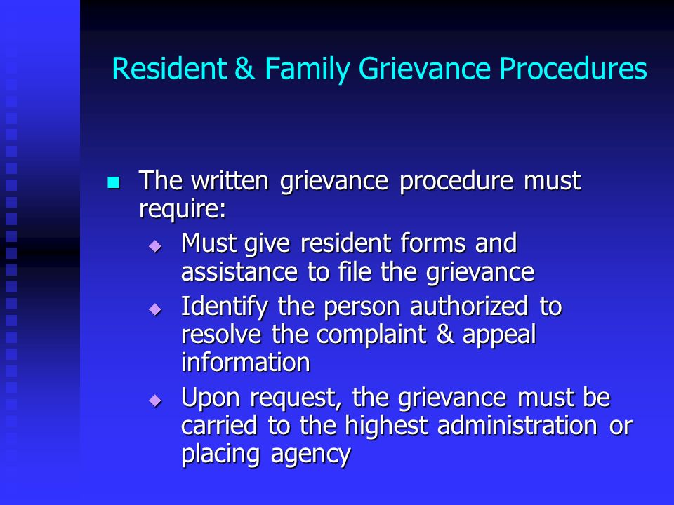 Resident & Family Grievance Procedures