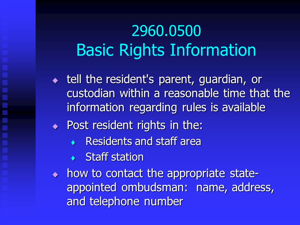 2960.0500 Basic Rights Information