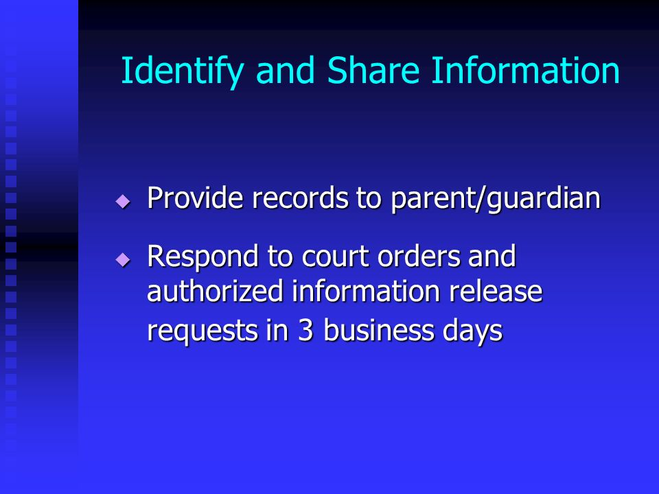 Identify and Share Information