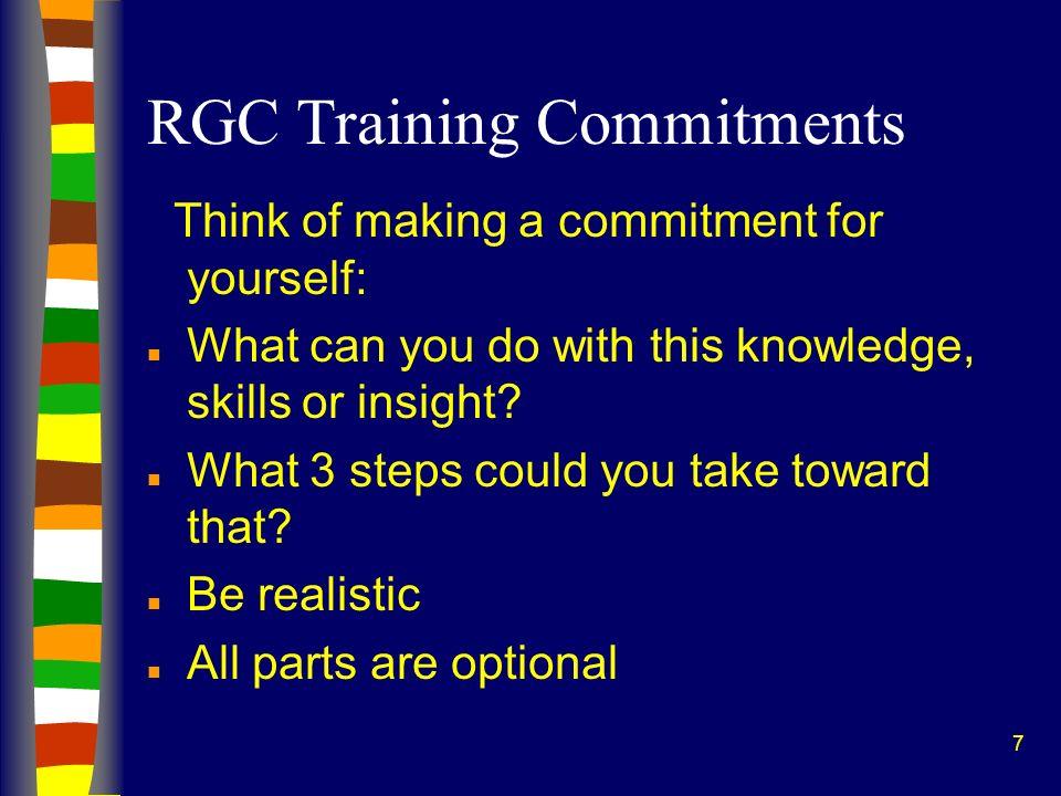 RGC Training Commitments
