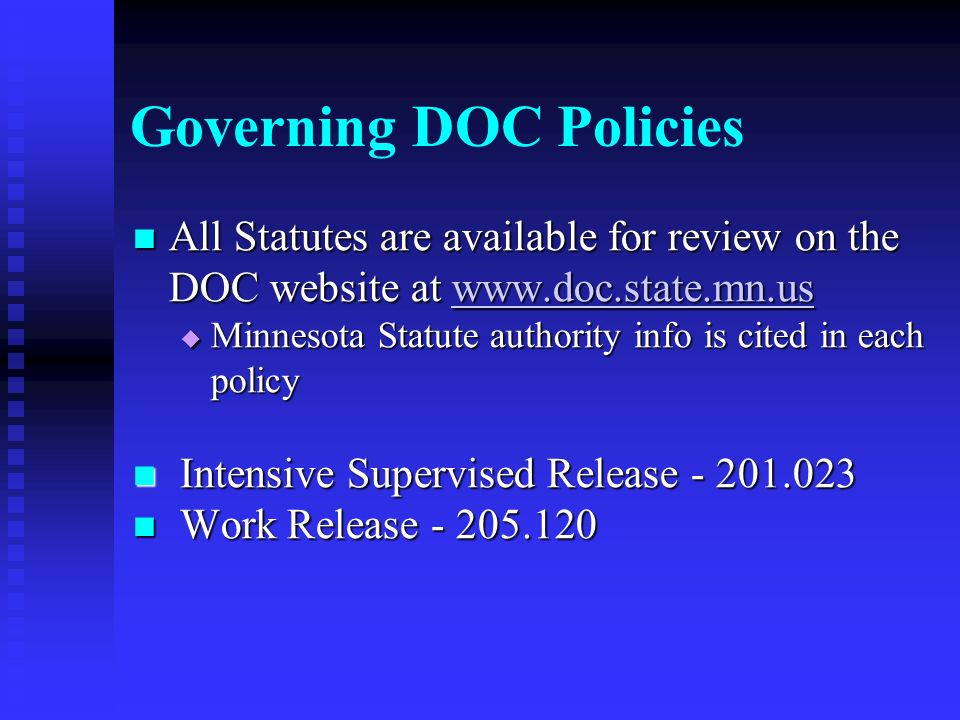 Governing DOC Policies