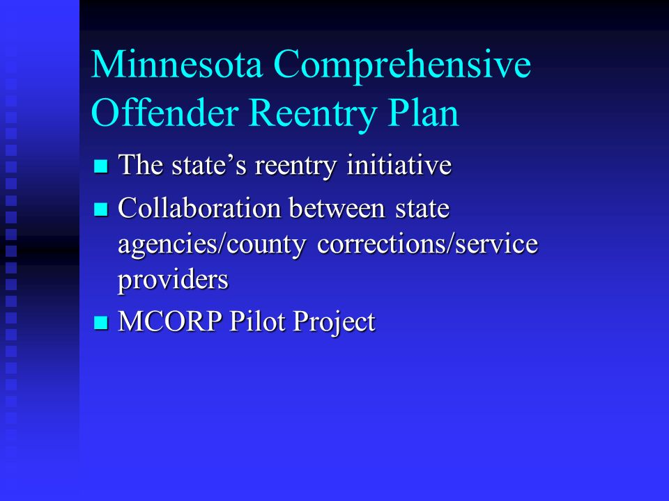 Minnesota Comprehensive Offender Reentry Plan