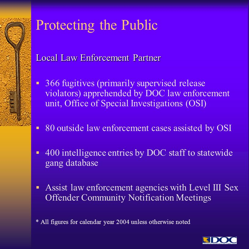 Protecting the Public Local Law Enforcement Partner