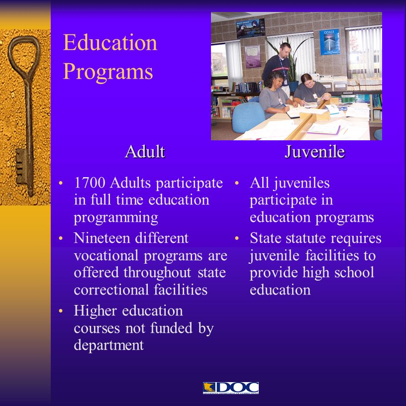 Education Programs Adult Juvenile