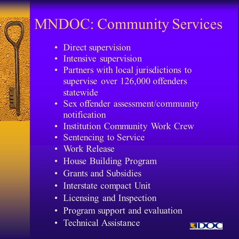 MNDOC: Community Services