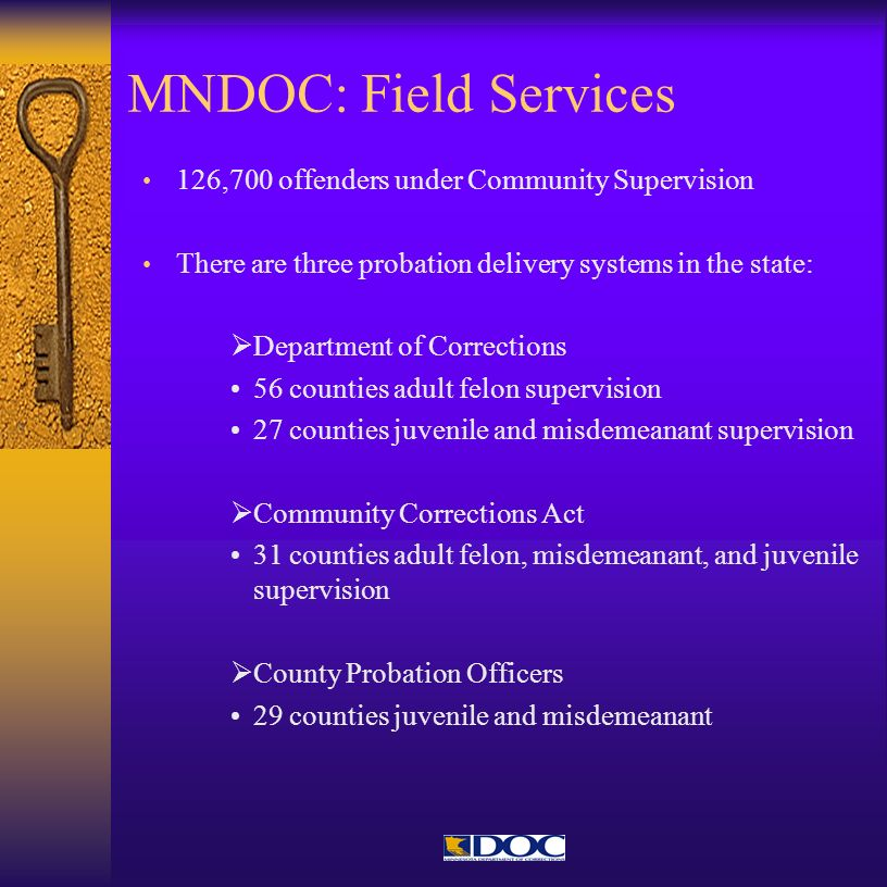 MNDOC: Field Services 126,700 offenders under Community Supervision