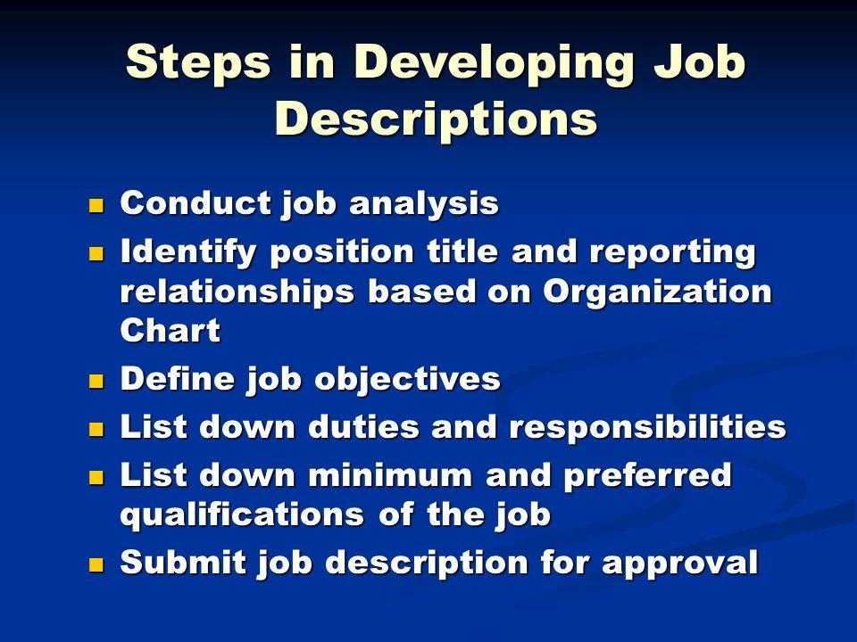 steps on conducting job analysis Home / recruiting & hiring tools / recruiting tools / job analysis, descriptions & advertising/ conducting a job analysis.