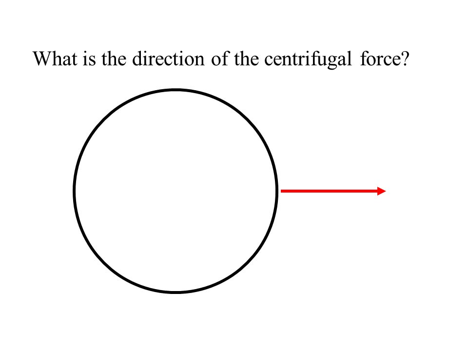 What is the direction of the centrifugal force