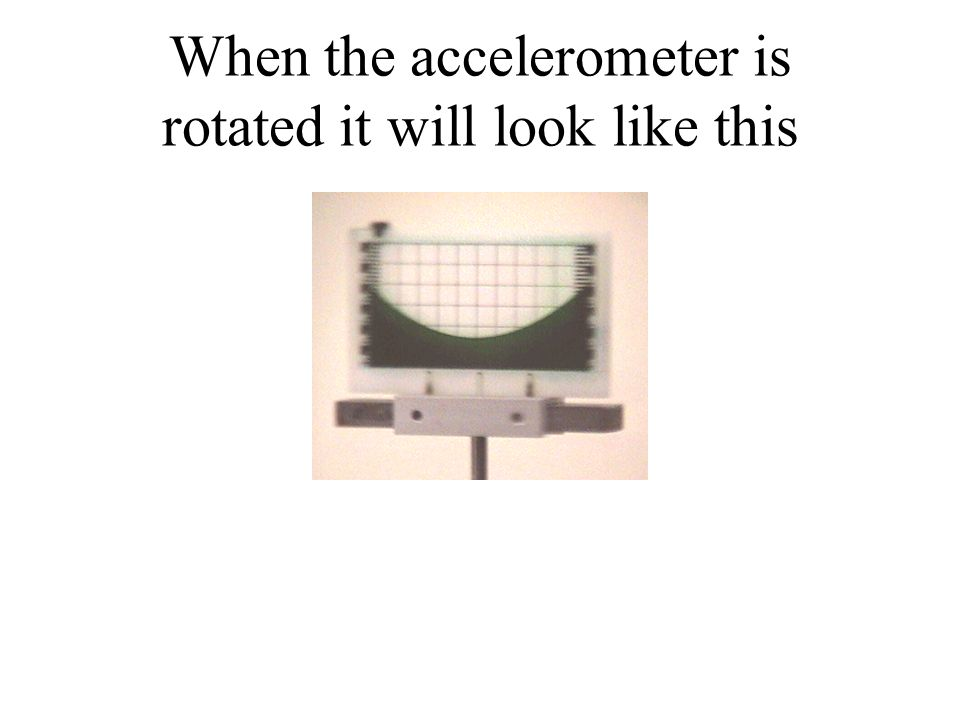 When the accelerometer is rotated it will look like this