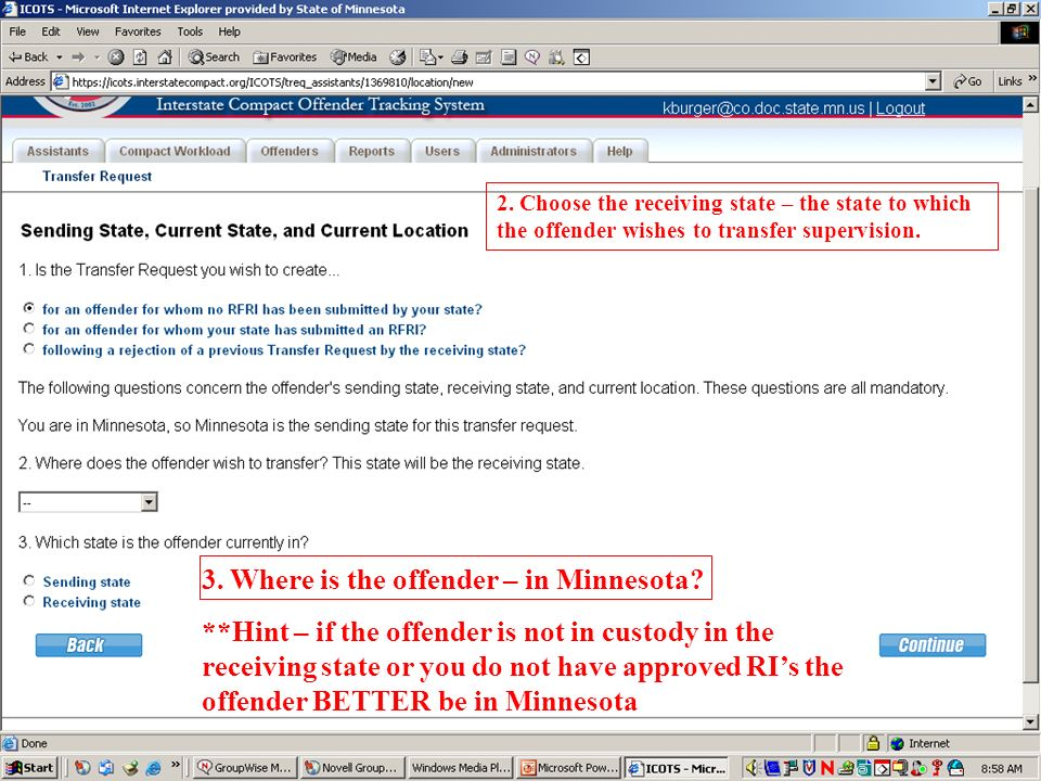 3. Where is the offender – in Minnesota