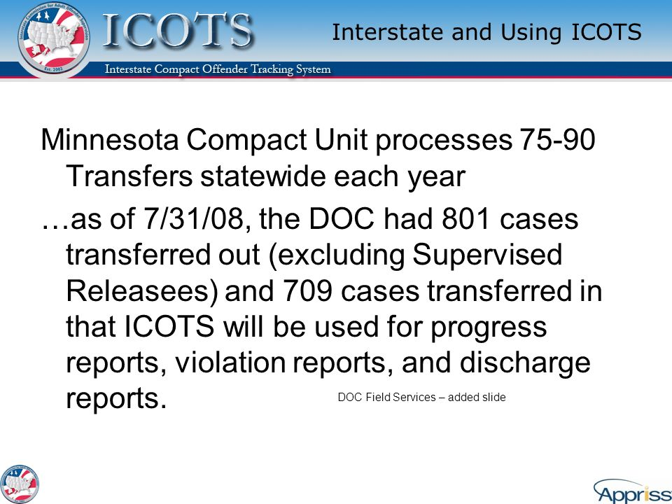 Interstate and Using ICOTS