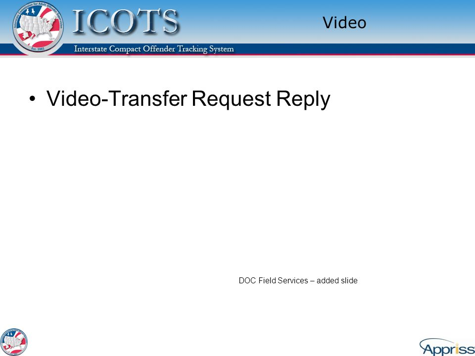 Video-Transfer Request Reply