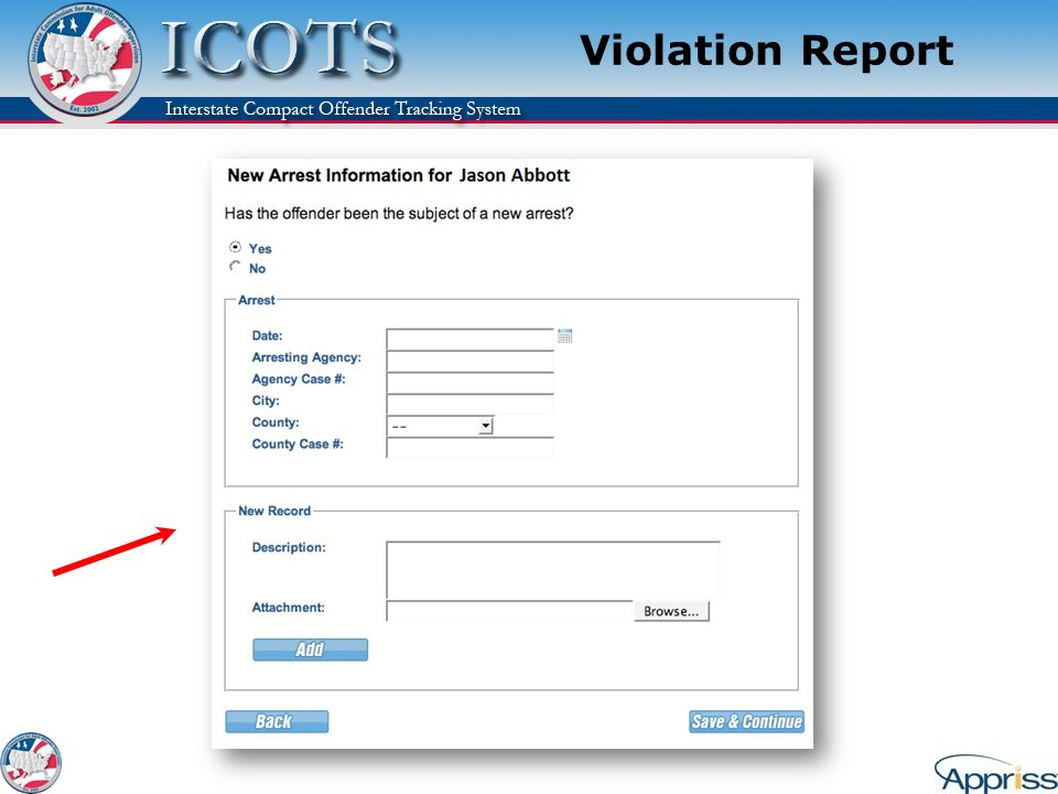 Violation Report Explain: