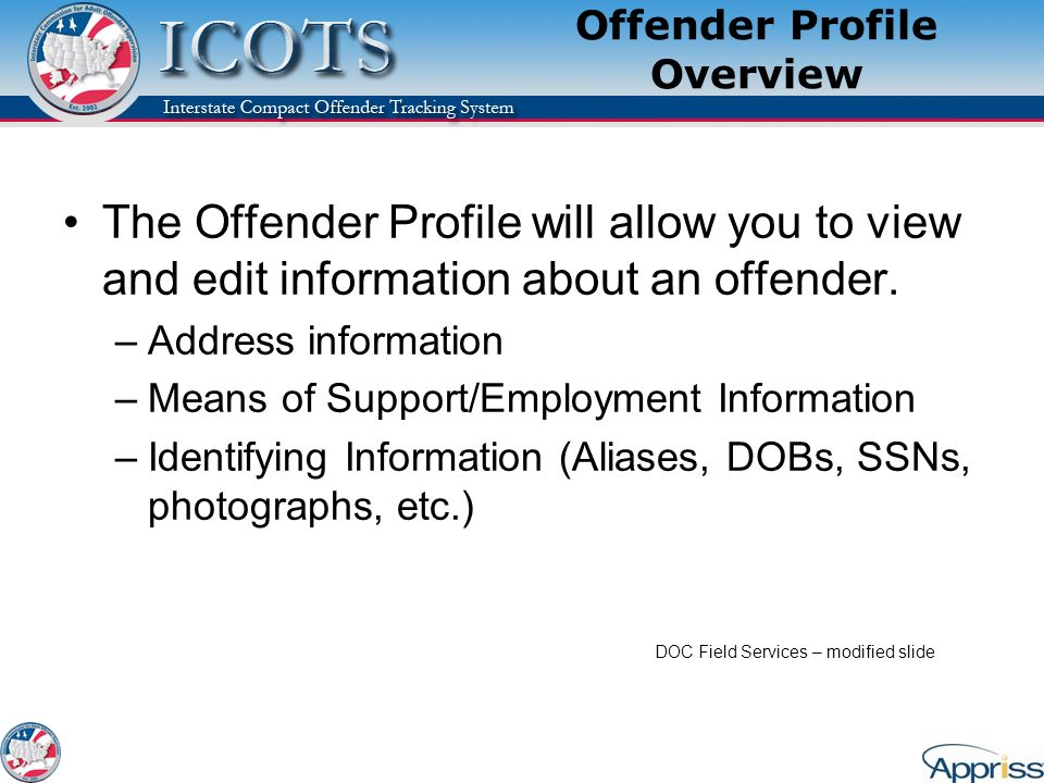 Offender Profile Overview