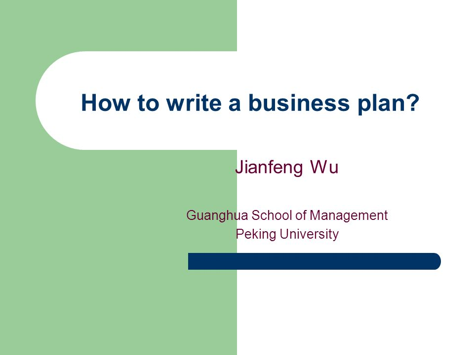 Writer business plan