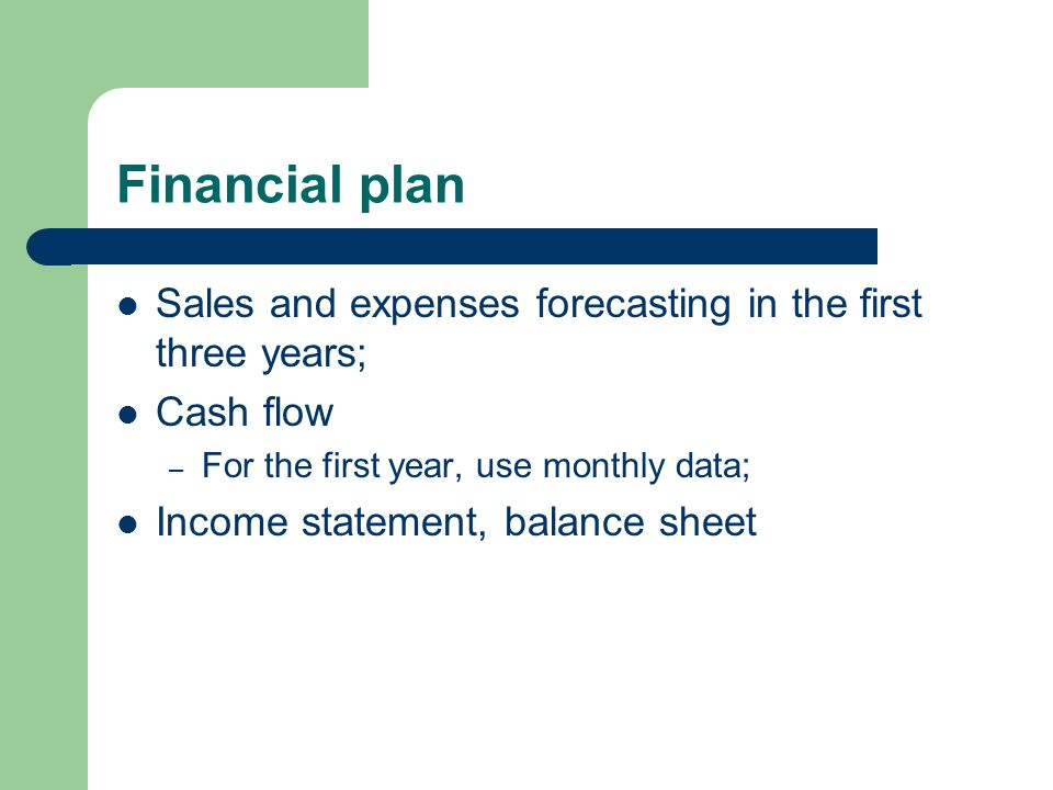 financial data business plan