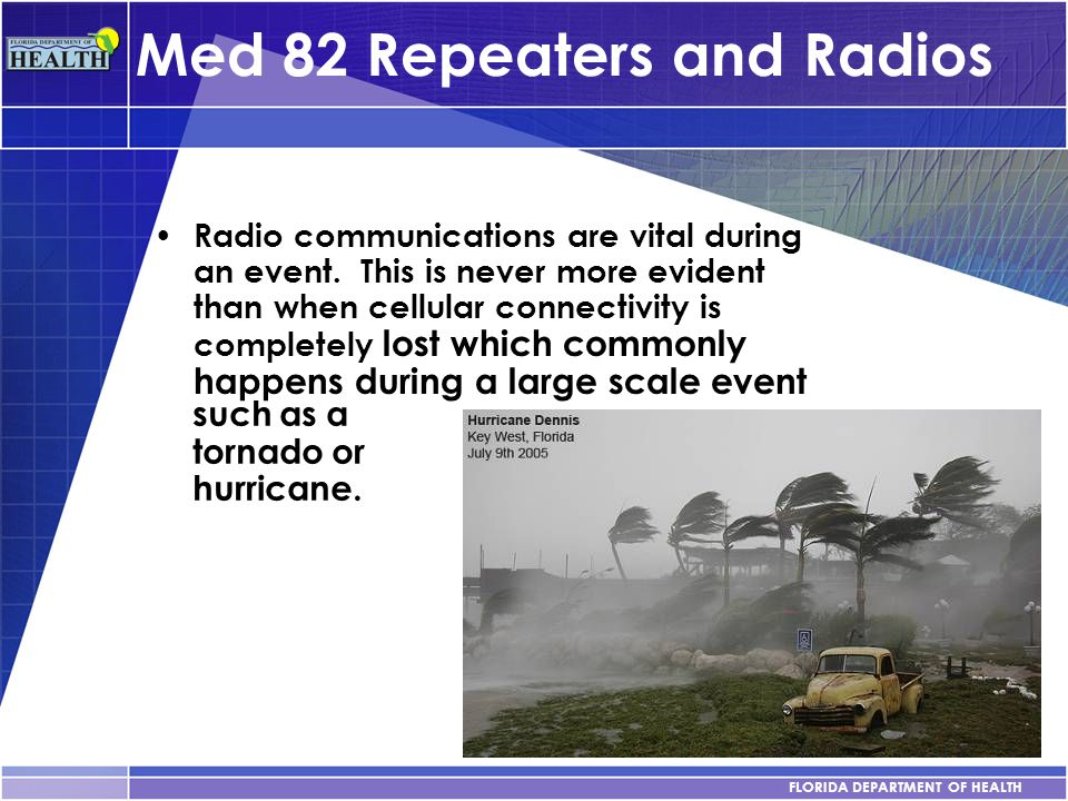 Med 82 Repeaters and Radios